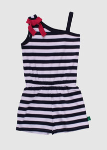 Sailor Stripe Strap Suit Navy - Fred's World by Green Cotton