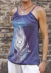 Top/ Kleid  mit Pfauenfeder - Itsus
