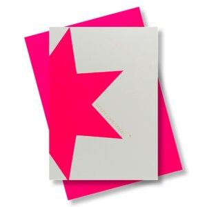 Briefkarte Merry Christmas Stern - Pink Stories