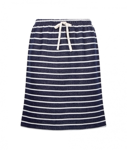 Selena Loopback Skirt navy-white von People Tree - People Tree