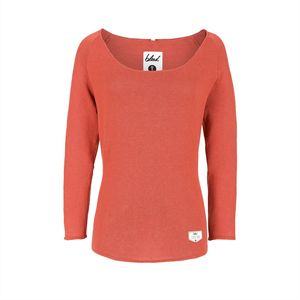 Leinen Damen Strickpullover orange - bleed