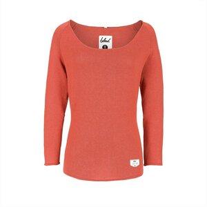 Knitted Linen Jumper Ladies orange - bleed