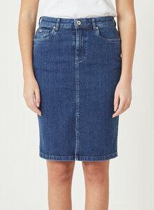 ELENA - Lange Denim Jeans Rock - barta