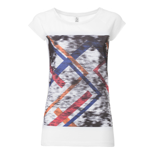 ThokkThokk Fade Cap Sleeve Damen T-Shirt white - THOKKTHOKK