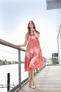 Gechrashtes Kleid in Patchwork-Look - pink patch - Madness