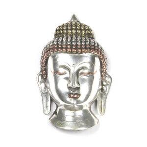 Buddha Maske versilbert - Just Be