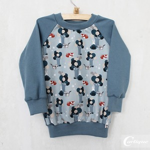 Jersey-Pullover 'forest animals' - Carlique