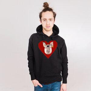 Piggy Love - Männerhoodie aus Bio-Baumwolle - Coromandel