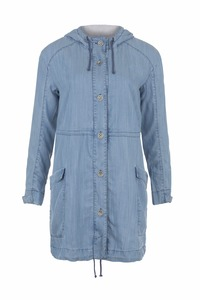 Denim Parka Coat - light blue denim - Komodo