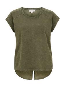 Shirt mit Voile Rückenteil - olive - Madness