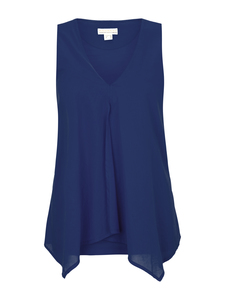 Top mit Voile navy - Madness