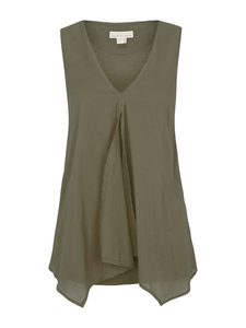 Top mit Voile olive - Madness
