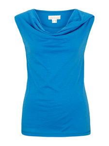 Shirt mit Wasserfall Ausschnitt blau - Madness