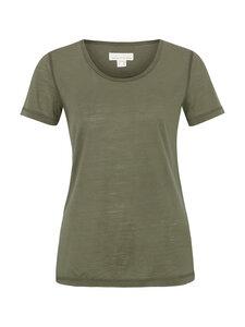 Basic Shirt in leichter Merinowolljersey-Qualität - olive - Madness