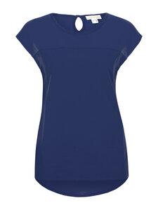Shirt Vorderteil doppellagig Voile - navy - Madness