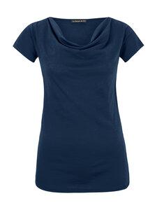 Drapiertes T-Shirt in blau - Les Racines Du Ciel