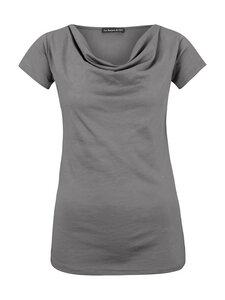 Drapiertes T-Shirt in grau - Les Racines Du Ciel