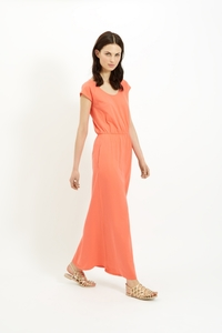 Marie Maxi Dress Coral - People Tree