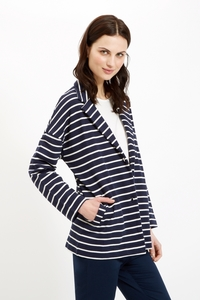 Drop Shoulder Jacket Navy - People Tree