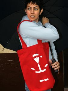 'Versteckchen' Shopper aus BIO-BAUMWOLLE - shop handgedruckt