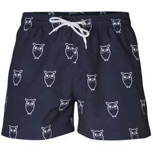 Swim Shorts Owl Print - KnowledgeCotton Apparel
