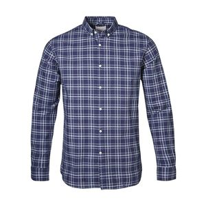 Indigo Look Checked Shirt - KnowledgeCotton Apparel