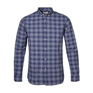 Indigo Look Checked Shirt - KnowledgeCotton Apparel