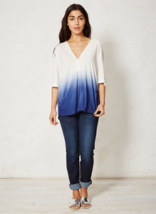 Mangata Top - dip-dye oceanblue - Thought | Braintree