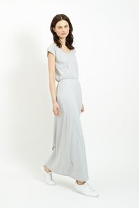 Marie Maxi Dress Grey Melange  - People Tree