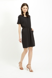 Rhona Pocket Dress Black - People Tree