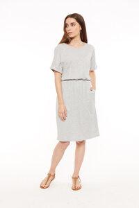 Rhona Pocket Dress Grey Melange - People Tree