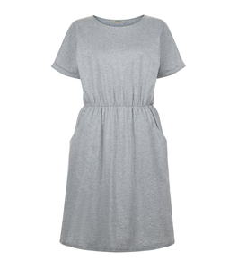 Rhona Pocket Dress Grey Melange - People Tree