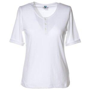 T-Shirt mit Knopfleiste - Anukoo