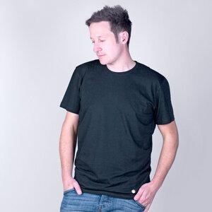 Basic Shirt Schwarz aus Biobaumwolle - Gary Mash