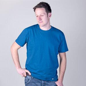 Basic Shirt Blau aus Biobaumwolle - Gary Mash