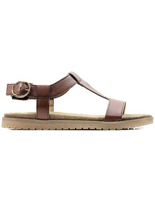 FOOTBED SANDALS CHESTNUT - WILLS LONDON