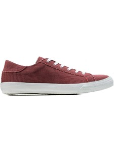LOW SNEAKERS WINE CANVAS - WILLS LONDON