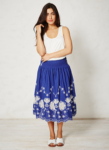 Naima Skirt - lagoon blue - Braintree