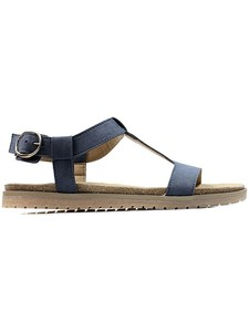 FOOTBED SANDALS COBALT - WILLS LONDON