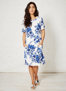 Mokomo Dress - delft blooms - Braintree