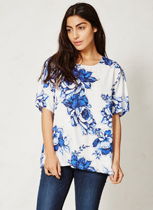 Mokomo Top - delft blooms - Thought | Braintree