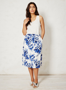 Mokomo Skirt - delft blooms - Braintree