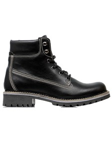 WOMEN'S DOCK BOOTS BLACK - WILLS LONDON