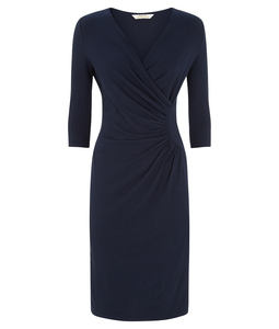 Stella Fitted Dress Navy - People Tree