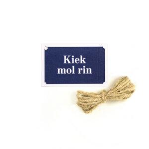 """Geschenkanhänger """"Kiek mol rin"""" - Bow & Hummingbird"""