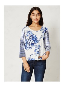 Mokomo Tee - delft blooms - Thought | Braintree