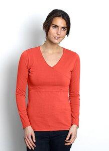 Stillshirt Wickeltop 'Nadia' Bio-Baumwolle fair GOTS orange von Milker - Milker