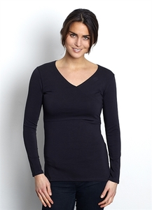Stillshirt Wickeltop 'Nadia' Bio-Baumwolle fair GOTS schwarz von Milker - Milker