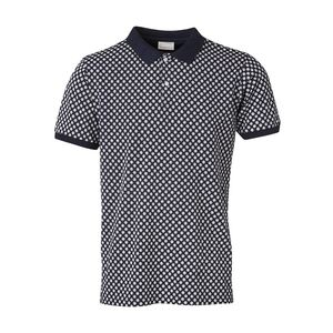 Pique Polo mit Dot Print - KnowledgeCotton Apparel