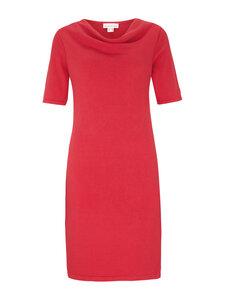 Kleid 1/2 Arm mit Wasserfallkragen - rot - Madness